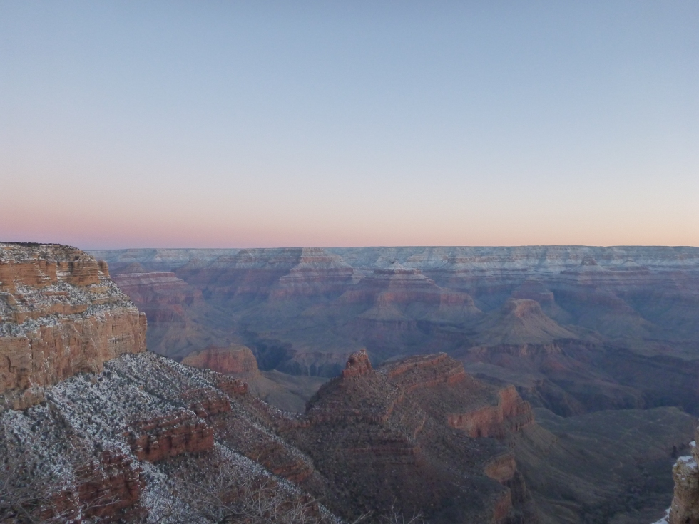 Grand Canyon at sunrise in February