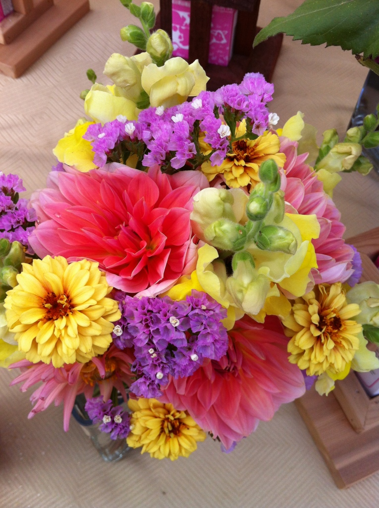 Gorgeous flowers at the Salt Spring Island Saturday markets