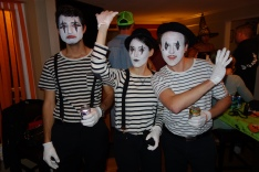 Just a few mimes hanging out on Halloween