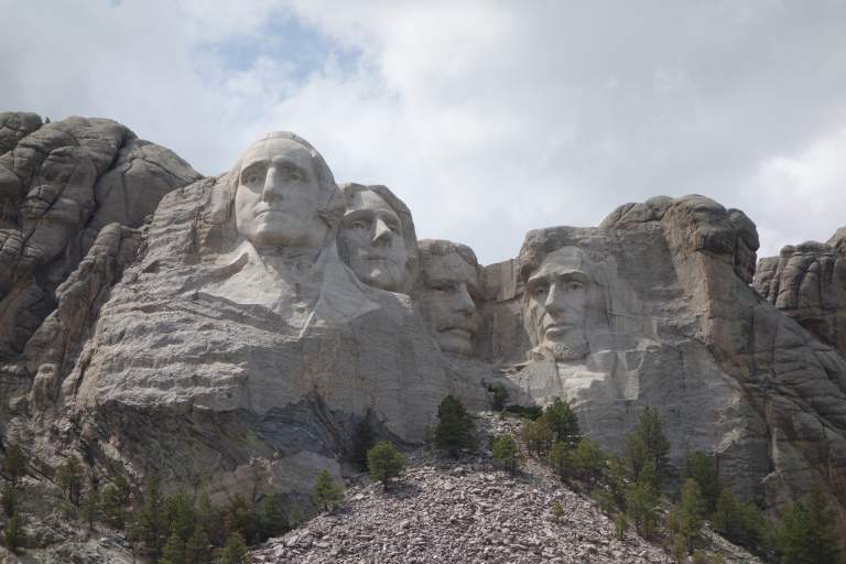 Yep, that's four dudes carved into the side of a mountain.