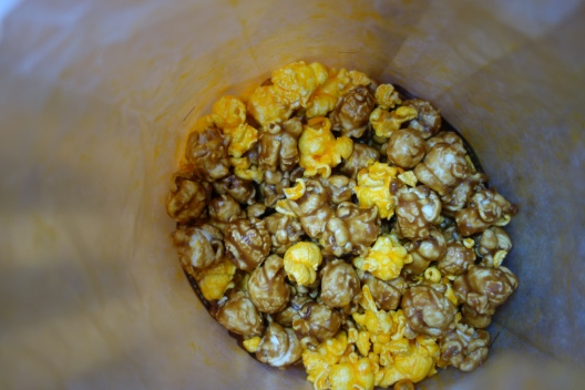 Sweet and cheesy popcorn from Garrett's
