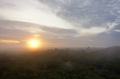Sunrise from Temple 4, Tikal