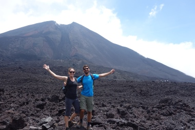 Hiking Pacaya, an active volcano