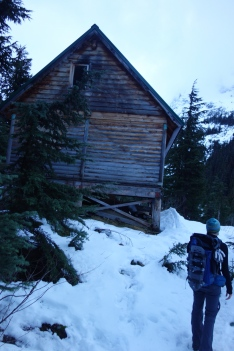 Reaching the hut!