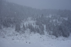 Visibility changes quickly in the mountains