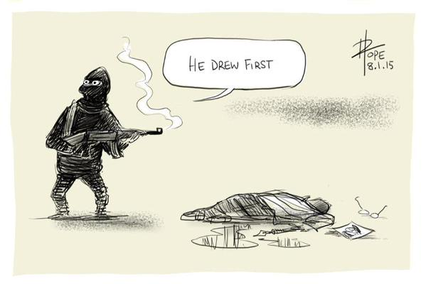 Cartoonist David Pope on the Charlie Hedbo attack